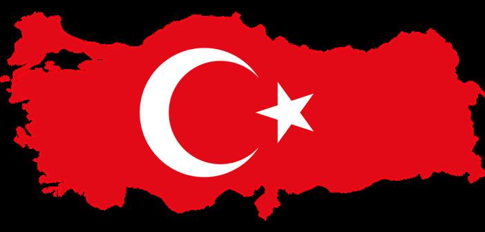 Türkiye Bayrağı Kaplı Türkiye Haritası