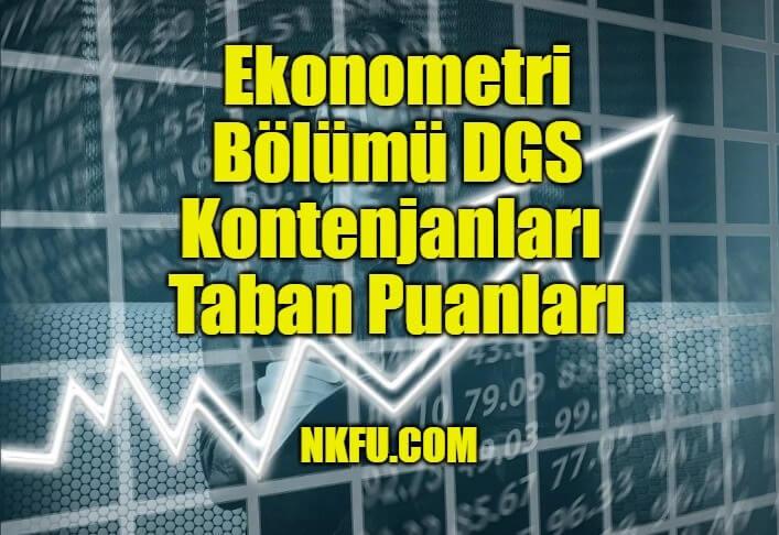 Ekonometri Bölümü DGS
