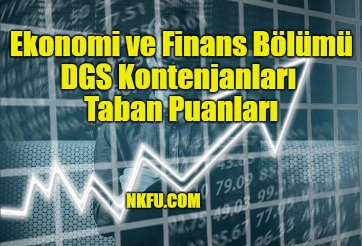 Ekonomi ve Finans Bölümü DGS