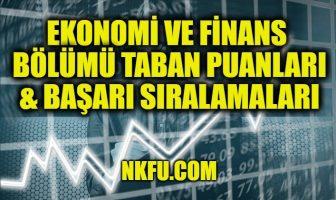 Ekonomi ve Finans Bölümü Taban Puanları