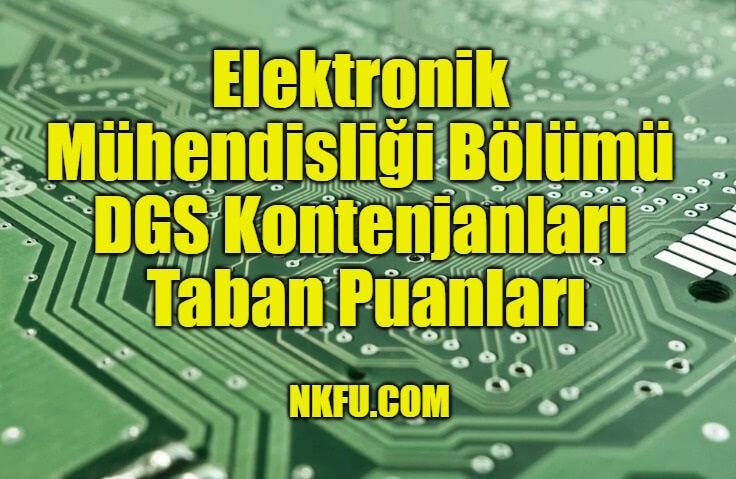 Elektronik Mühendisliği Bölümü DGS