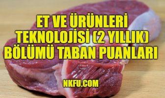 Et ve Ürünleri Teknolojisi