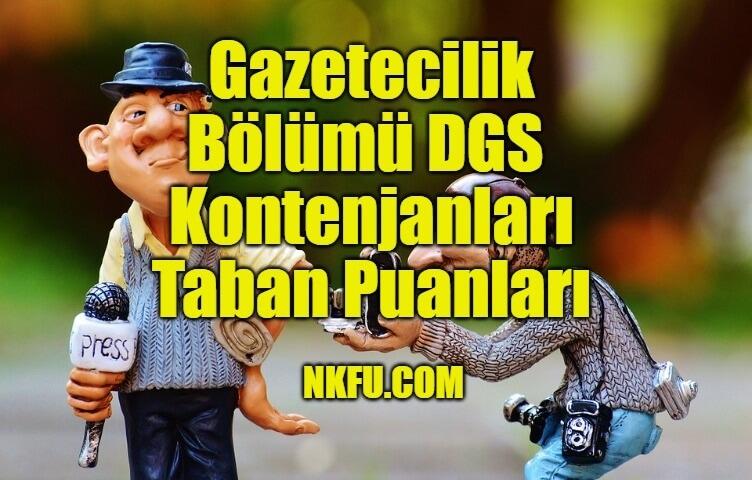 Gazetecilik Bölümü DGS