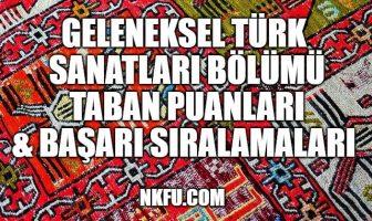 Geleneksel Türk Sanatları Taban Puanları