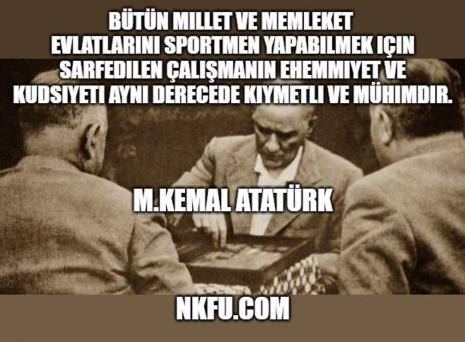 Atatürk Spor İle İlgili Sözleri