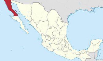 Baja California Eyalet Haritası