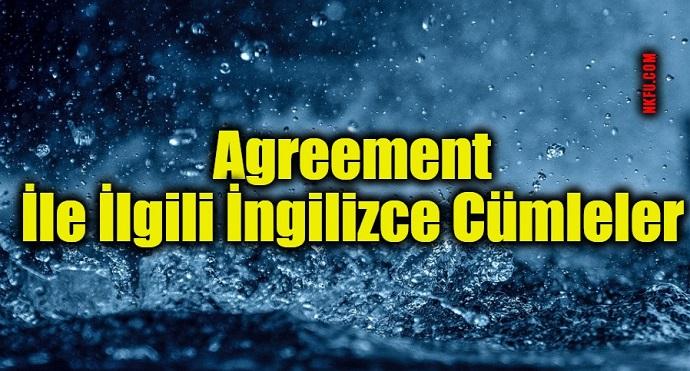 Agreement İle İlgili İngilizce Cümleler
