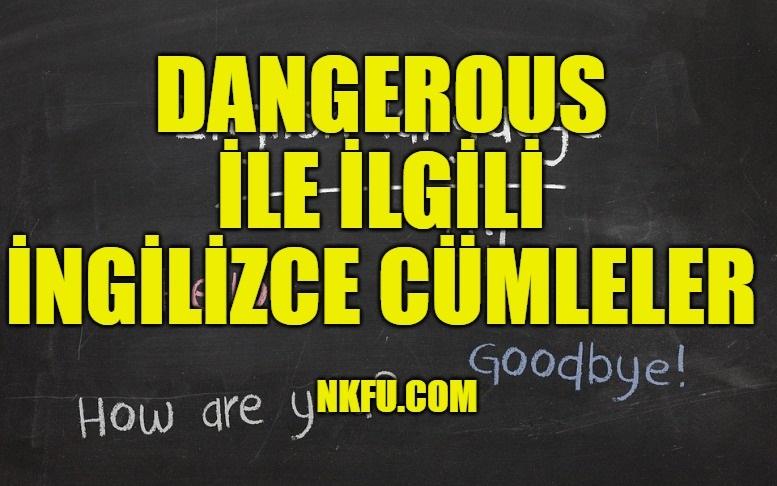 Dangerous İle İlgili İngilizce Cümleler