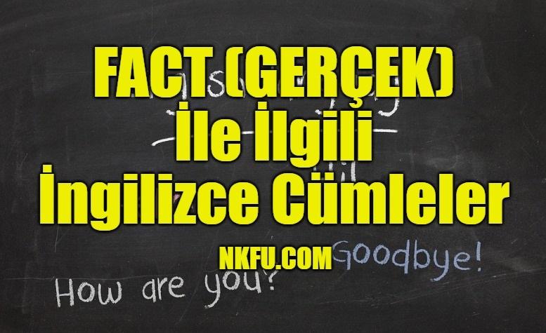 Fact (Gerçek) İle İlgili İngilizce Cümleler