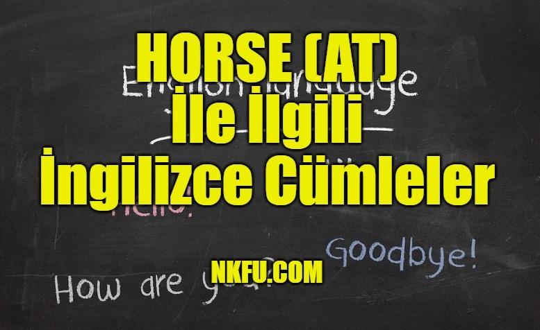 Horse (At) İle İlgili İngilizce Cümleler