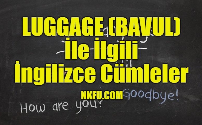 Luggage İle İlgili İngilizce Cümleler