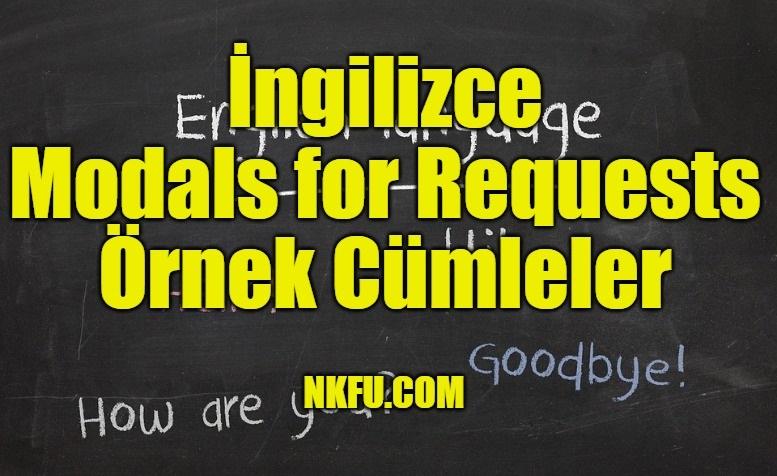 İngilizce Modals for Requests Örnek Cümleler
