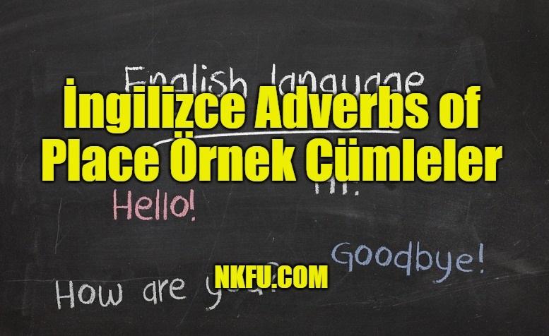 İngilizce Adverbs of Place Örnek Cümleler