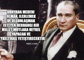 Atatürk'ün Resim ve Heykel Sanatına Verdiği Önem