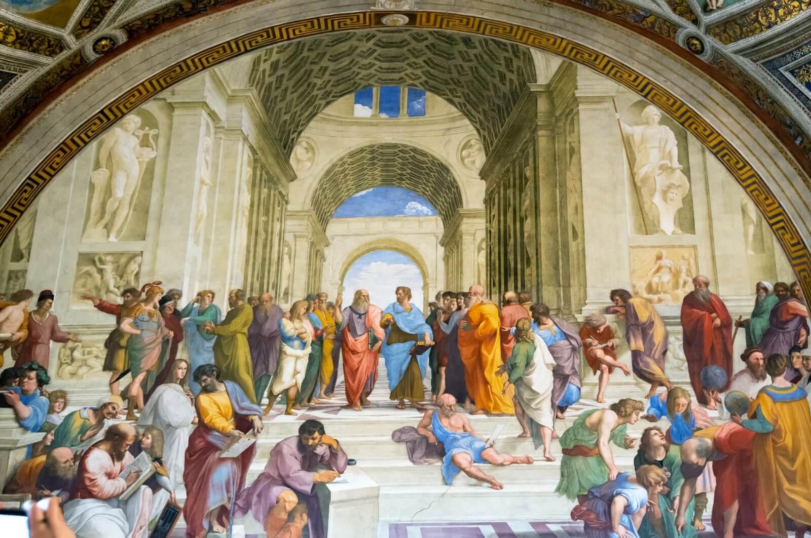 Atina Okulu, İtalyan ressam Raffaello Sanzio tarafından 1509-1511 yılları arasında yapılmış fresk