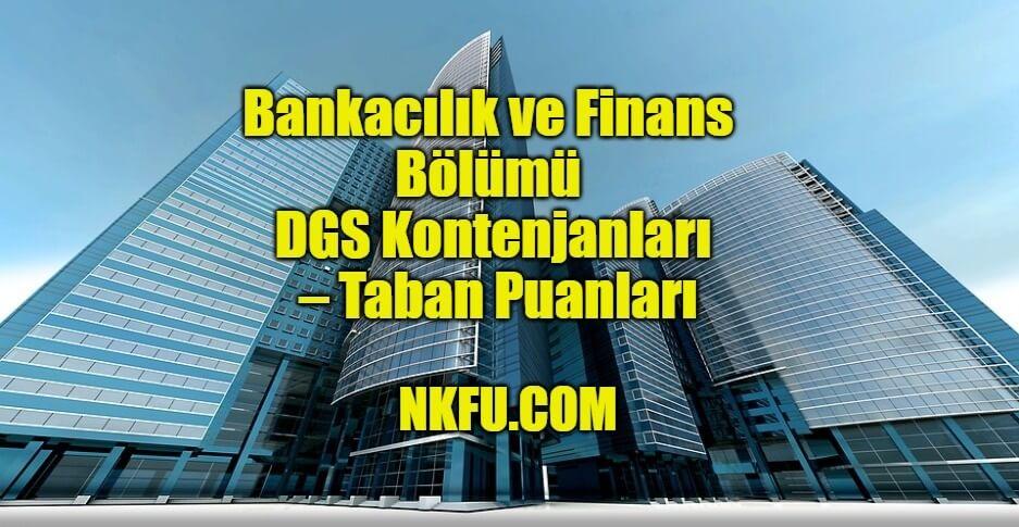 Bankacılık ve Finans Bölümü dgs