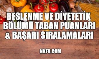 beslenme ve diyetetik