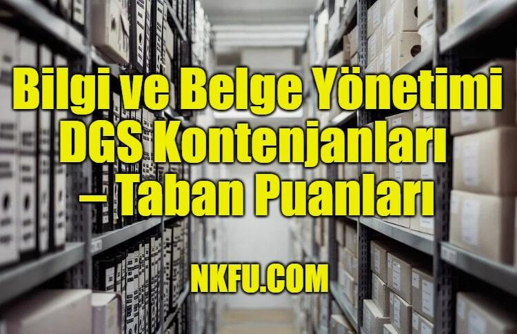 Bilgi ve Belge Yönetimi Bölümü DGS