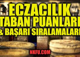 İstanbul'da Bulunan Eczacılık Fakülteleri Taban Puanları ve Kontenjanları 2020