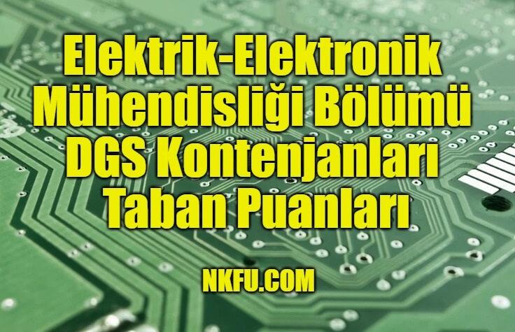 Elektrik-Elektronik Mühendisliği Bölümü DGS