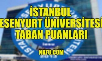 İstanbul Esenyurt Üniversitesi Taban Puanları