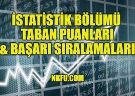 İstatistik Bölümü Taban Puanları 2020