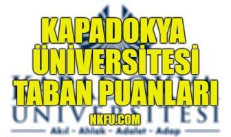 Kapadokya Üniversitesi Taban Puanları
