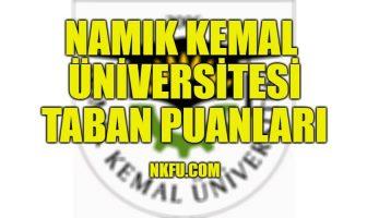 Namık Kemal Üniversitesi Taban Puanları