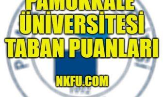 Pamukkale Üniversitesi Taban Puanları