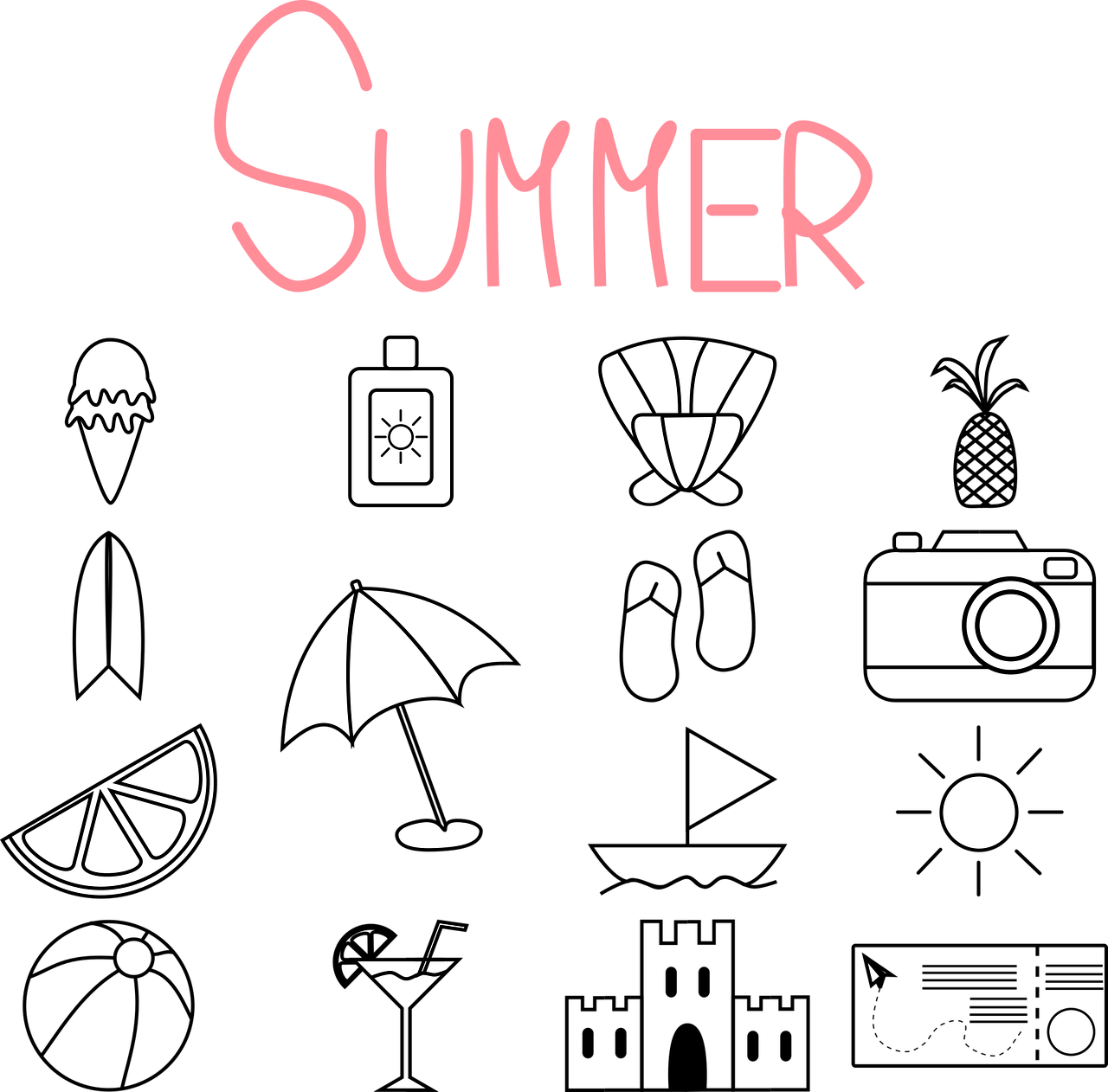 Turizm Haftası Boyama Sayfaları