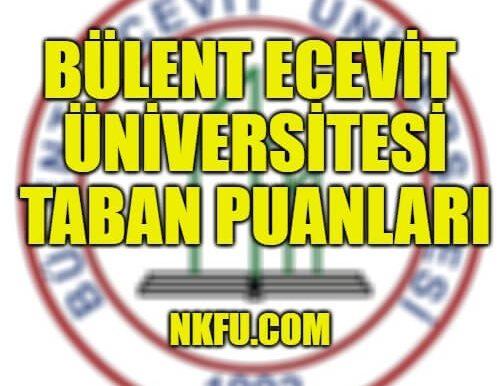 Zonguldak Bülent Ecevit Üniversitesi 4 Yıllık Bölümleri Taban Puanları 2020