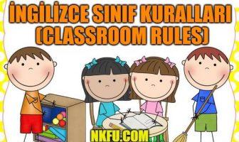 ingilizce sınıf kurallari
