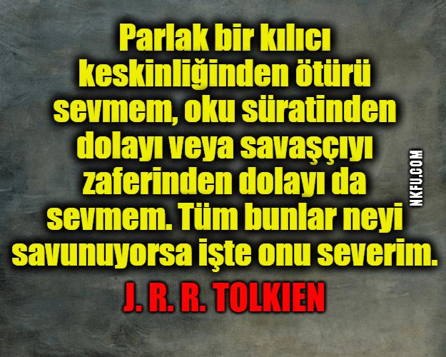 J.R.R. Tolkien Sözleri