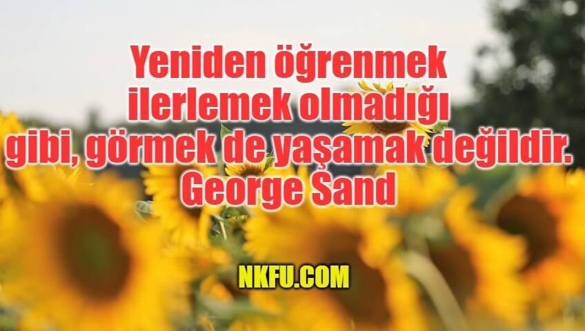 George Sand Sözleri