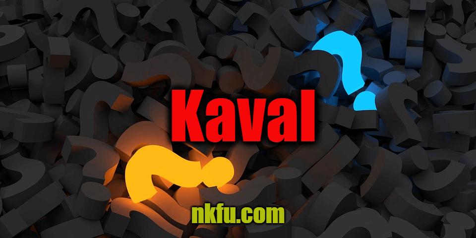 Kaval ( Cevaplı Bilmece)