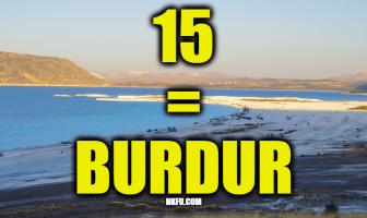 15 PLAKA BURDUR