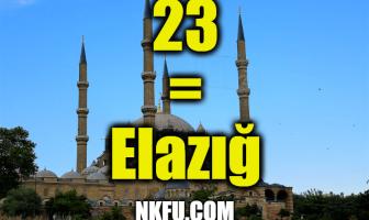 23 Plaka Elazığ