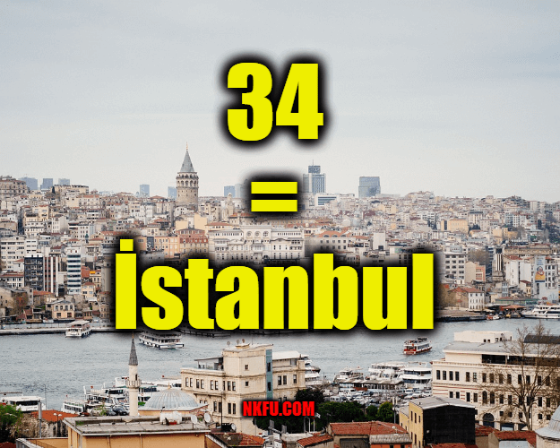 34 plaka İstanbul