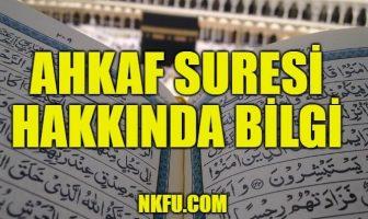 Ahkaf Suresi