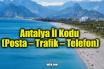Antalya İl Kodu (Posta – Trafik – Telefon)