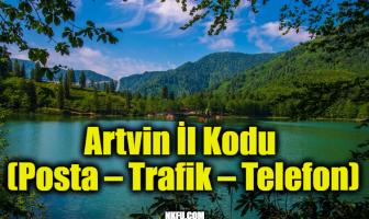 Artvin İl Kodu (Posta – Trafik – Telefon)