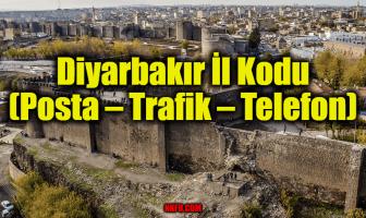 Diyarbakır İl Kodu (Posta – Trafik – Telefon)