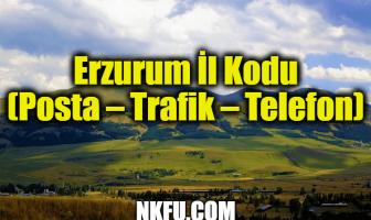Erzurum İl Kodu (Posta – Trafik – Telefon)