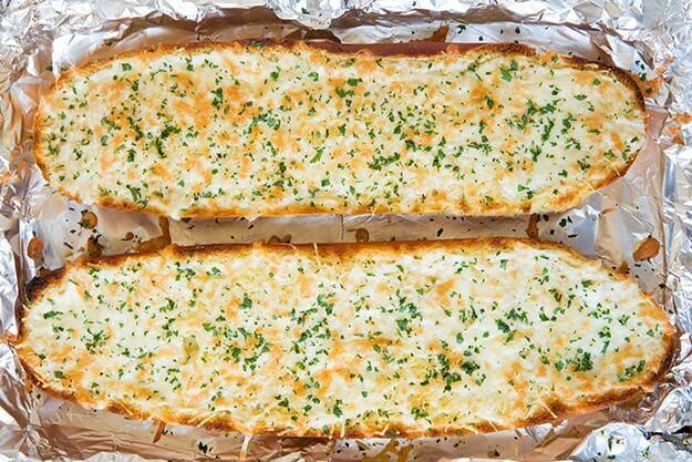 Peynirli sarmısaklı ekmek
