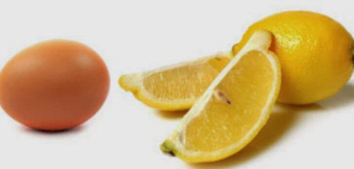 yumurta akı limon