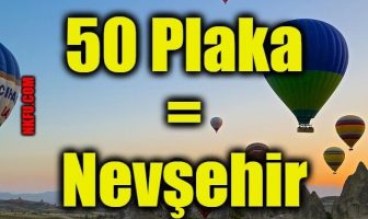 50 plaka Nevşehir