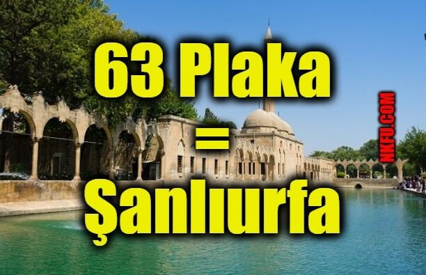 63 Plaka Şanlıurfa