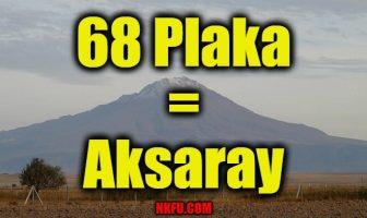 68 plaka aksaray