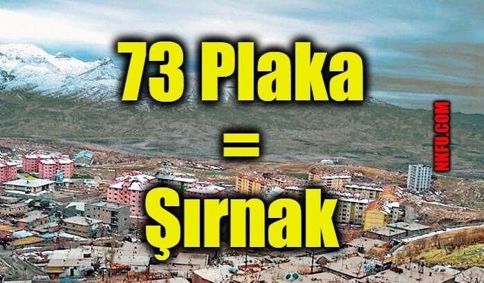 73 Plaka Şırnak
