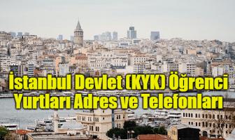 İstanbul Devlet (KYK) Öğrenci Yurtları Adres ve Telefonları
